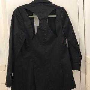 NWT Cynthia Rowley open back blazer. Size 0